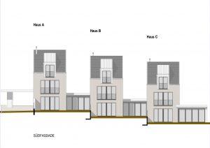 Neubau 3 Stadthäuser Käppelirainweg Aesch